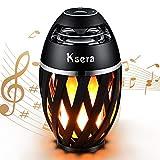 Ksera LED Flicker Flame Speaker, Flame Atmosphere Lamp with Wireless Bluetooth Speaker, Portable