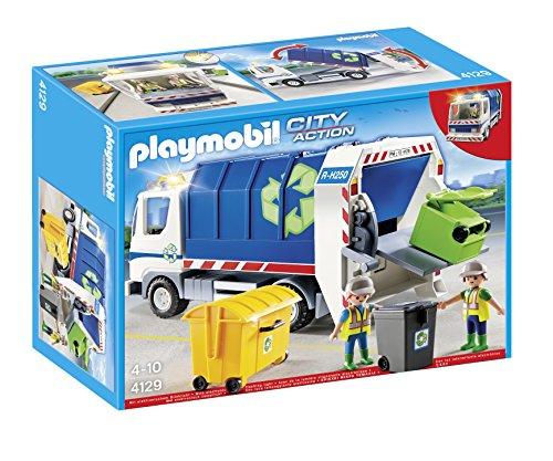 PLAYMOBIL - 4129 - Camion de Recyclage Avec Lumières