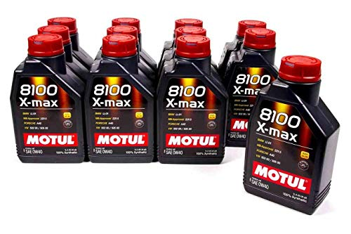 Motul 104531 8100 0w40 X-Max Oil Case12x1 Liter, 405.72 Fluid_Ounces