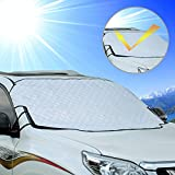 Cosyzone Car Windshield Sun Shade Sunshade Blocks UV Rays Sun Visor Protector, to Keep Your Vehicle Cool and Damage Free, Fits for Most Vehicle SUV