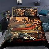 Cleopatra Bettdeckenbezug, volle Größe, Geparden-Bettbezug, für Erwachsene & Jugendliche, Bettbezug, Tiermuster, Dekor, exotischer Retro-Stil, Bettbezug mit Reißverschluss, weich, hautfre&lich