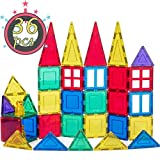 cossy 36 Pcs Magnetic Tiles, 3D Magnet Building Block Set with Rivets-Fastened for 3 Year Old and Up Kids, Learning and Bonding by Playing, Inspirational, Recreational, Educational, Conventional