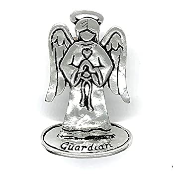 Basic Spirit Pewter Guardian Angel Figurine Statue Protection Blessings
