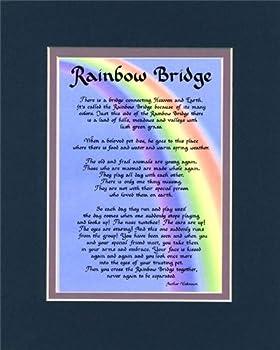 McDarlins Calligraphy Rainbow Bridge Dog Cat Memorial Wall Decor Poem Pet Loss Saying Bereavement Sympathy Keepsake Gift