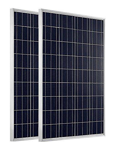 ECO-WORTHY 200Watt 2X100W Panel Solar Policristalino y Fotovoltaico 12V Carga Mediante Batería