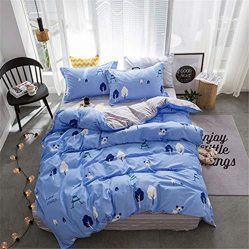 Schöne Bettwäsche, Kinderbett Schulheim Bettbezug, Winter-Einzelbett-Set aus drei Teilen von Paris 榭 AU-Single
