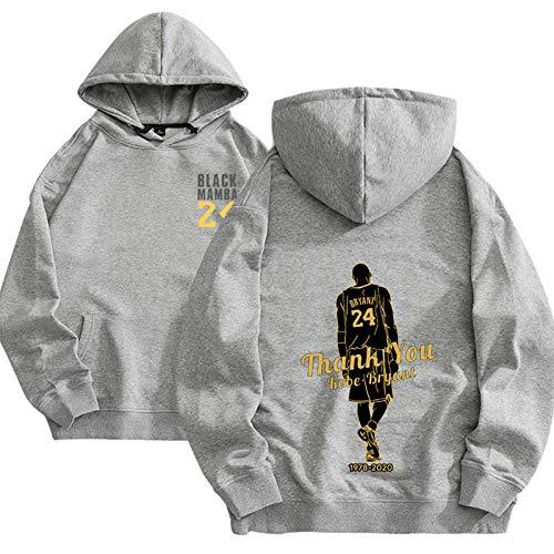 XGMJ Sudadera con capucha Kobe con capucha para adultos, estilo casual, cómodo, ideal para parejas, color gris y M