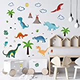 decalmile Pegatinas de Pared Dinosaurio Colorido Vinilos Decorativos Infantiles Adhesivos Pared Habitación Bebés Guardería Dormitorio