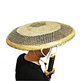 SUNNYHILL Bamboo Japanese Hat Samurai Hat Cosplay Asian Hat Dia.of 21.6 Inches