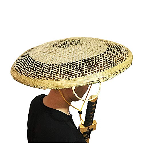SUNNYHILL Bamboo Japanese Hat Samurai Hat Cosplay Asian Hat Dia.of 20 Inches