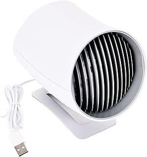 Portable Mini Quiet Smart Touch Control Electric Fan Desk Table Car USB Charging Fans for Directional Air Flows(White)