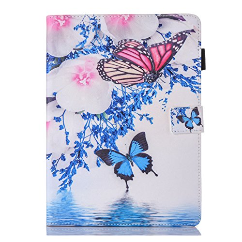 Bspring iPad Case 9.7 Inch 2018 2017, Print Lightweight Folding Folio Case Cover for iPad 6th 5th Generation Adjustable Stand Auto Wake/Sleep Smart Case, Beautiful