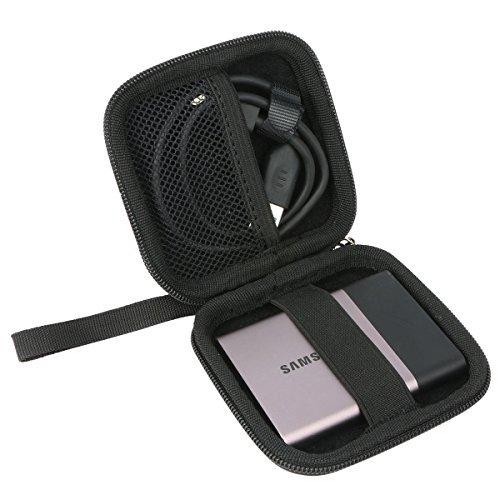 Khanka Duro Viaje Estuche Bolso Funda para Samsung T5 250GB 500GB 1TB 2TB Disco Estado sólido SSD Externo (Small)