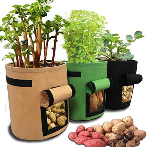 Tassen potplanten groeien in zakken met aardappelen hydraterende moestuin verticale tuin tuin kas zaailingen Stock Exchange,Verde 25x30 (4gal)