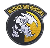 Metal Gear Solid MGS Peace Walker Militaires SANS Frontieres MSFMilitary Patch Fabric Embroidered Badges Patch Tactical Stickers for Clothes with Hook & Loop (color3)