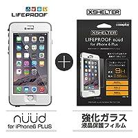 【日本正規代理店品・iPhone本体保証付】【LifeProof 】×【XSHELTER】nuud for iPhone6 Plus White + 強化ガラス液晶保護フィルム for LIFEPROOF nuud 専用モデル 4580395352046