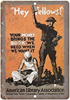 American Library Association War ティンサイン ポスター ン サイン プレート ブリキ看板 ホーム バーために