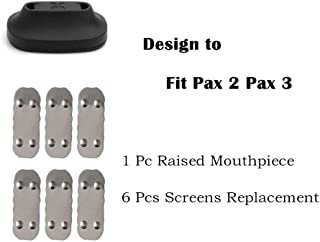 Zing O Raised Mouthpiece & 6 Screens Replacement Parts Accessories for Pax 2 & Pax 3
