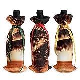Dusk Tropical Beach Palm - Funda para botella de vino, decoración de bolsas de manta, para suministros de fiesta de degustación de vino de Navidad