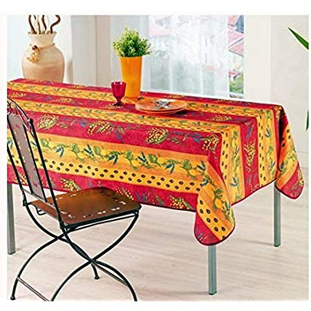 """BLACK OLIVES YELLOW FRENCH PROVENCE TABLECLOTH ROUND WHEAT BOUQUETS 180cm 71/"""""""