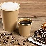 ACESA - Vasos Desechables de Café para Llevar - Vasos de Cartón Kraft Biodegradables Tazas de Te para Bebidad Frias y Calientes Compatible con Cafeteras Nespresso y Dolce Gusto (TAPA 200ml (100ud))