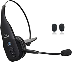 BlueParrott B350-XT Bluetooth Headset - 203475 | Global Teck Bonus Mic Cushions | NFC Enabled | Compatible with Smartphones, iPad, Android, iPhones, Sonim, Blackberry, Rugged Tablet,24 hours Talk Time