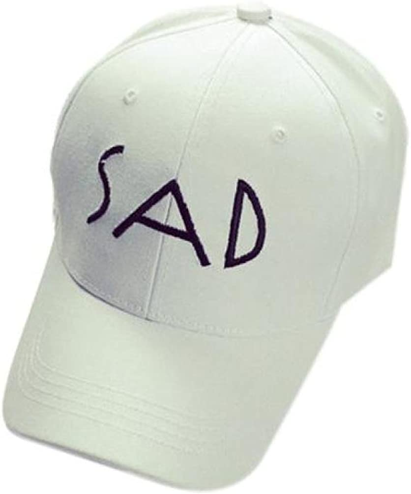 Kemilove Embroidery SAD Cotton Baseball Cap Snapback Caps Hip Hop Hats