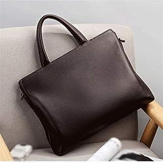 حقيبة ظهر Chliuchihjklstb، حقيبة يد للرجال كاجوال بريطاني حقيبة عمل حقيبة كتف (اللون: بني)