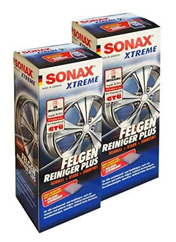 2 x SONAX Xtreme Felgenreiniger Plus 500ml, Felgenpflege, Felgen-Cleaner