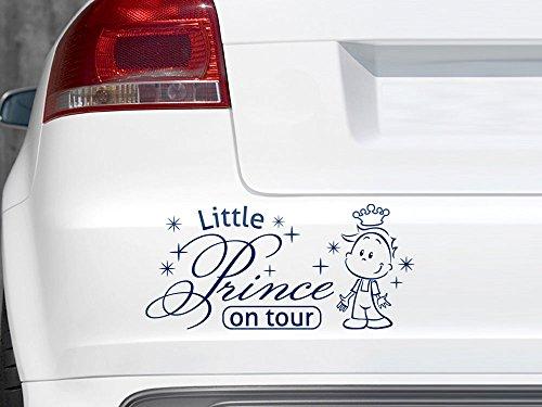 GRAZDesign 745030_10_010G Auto-Aufkleber Baby fürs Auto Spruch Little Prince on Tour   Geschenk zur Geburt - Heckscheiben-Aufkleber (21x10cm // 010 weiß)