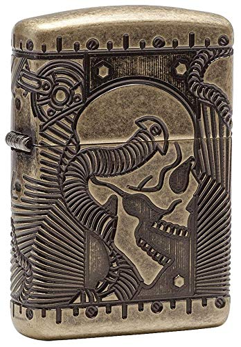 Zippo Steampunk Armor Antique Brass Pocket Lighter