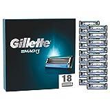Gillette Mach3 Rasierklingen, 18 Ersatzklingen für Nassrasierer Herren mit 3-fach Klinge