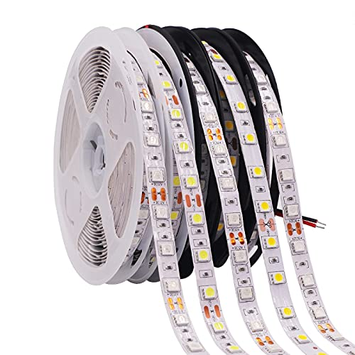 ZZSSC LED Strips Lights 5050 RGB 4 in 1 RGBW RGB WW Flexible Led Tape Light DC12V 60Leds/m Waterproof IP65 Led Light Strip White/Warm White 5m(Non Waterproof-Germany)