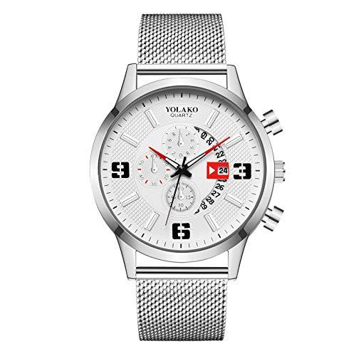 Herren Automatik Automatikuhr Elegant Lässig Mechanisch Armbanduhren mit Mesh-Armband,Uhr Uhren,Geeignet für Werbegeschenke Valentinstag