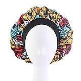 ZLDDE Cómodo Mujeres Silk Bonnet Día Noche Sueño Cap Dama Maquillaje Headwear Headwear Soft Pein Styling Head Wrap Funda de Cabello Accesorios Dormir Bien (Color : H)