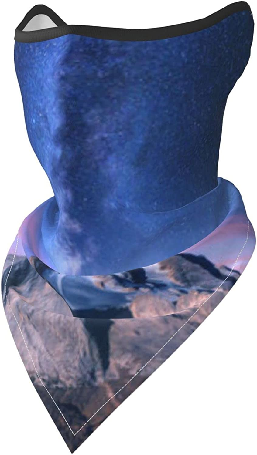 Starry Night Sky Star Skyline Over The Mountain Painting Breathable Bandana Face Mask Neck Gaiter Windproof Sports Mask Scarf Headwear for Men Women Outdoor Hiking Cycling Running Motorcycling