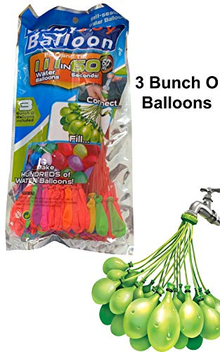 Happy Baby Bunch Of Balloons,111 Self-Sealing Water Balloons  X4 Packs