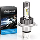 Camelight Fanless H4 Motorcycle LED Headlight Bulbs,25W Hi/Lo 9003/HB2/HS1 Conversion Kit ,Replacement for Halogen Lamp, 6000k Xenon White (1pcs)