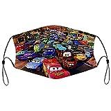 Best-design Cars Pixar - Máscara protectora para la boca lavable, suave, transpirable, para exteriores, deportes, motor/ciclismo para adultos