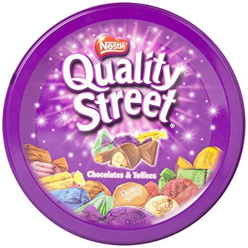 Nestlé Quality Street Bombones de Tofe recubiertos de Chocolate - Lata de bombones 6x480g