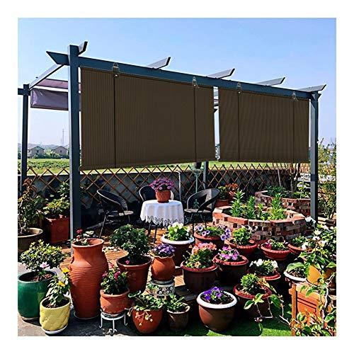 LSXIAO Sonnenschirm Rollo Datenschutzbildschirm Anti-Aging-Polyethylen Blockierungsrate 95% Spur Aus Aluminiumlegierung Lochfreie Installation Garten Pergola Terrasse,Markise