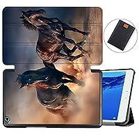 MAITTAO Case For Huawei MediaPad M3 Lite 8.0 CPN-W09/AL00, Slim Folio Smart Stand Cover with Auto Wake/Sleep For Huawei Mediapad M3 Lite 8.0 inch 2017 Released Android Tablet, Akhal-Teke Horse 14