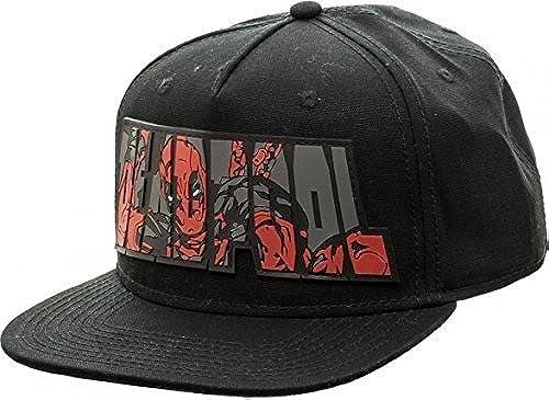 Marvel Snapback- Bioworld Official Deadpool Snapback Rubber Logo by Bioworld