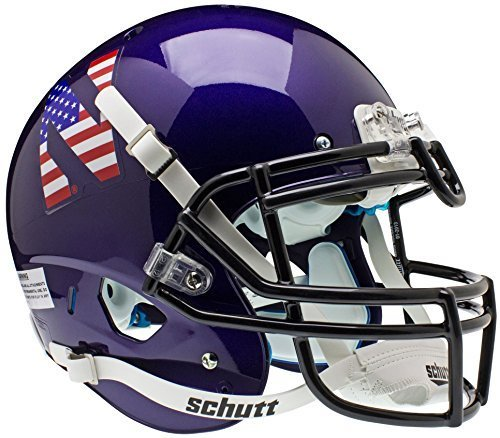 NORTHWESTERN WILDCATS Schutt AiR XP Full-Size AUTHENTIC Football Helmet (FLAG) by ON-FIELD