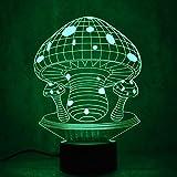 Kreative 3D Tischlampe LED Nachtlicht Mehrfarben Vision USB Nachthemd Neuheit Pilz Lampe Dekoration Geschenk