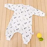 B/H Recién Nacido Manta Envolvente,Saco de Dormir de algodón de bambú de Gasa para bebé,edredón Antideslizante de Pierna Dividida siamés para bebé-Penguin_90cm,Saco de Dormir para Bebé Confortable
