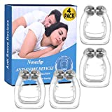 4 Pack Snore Stopper, Anti Snoring Device Nose Clip Anti Snore Aid Snoring Solution
