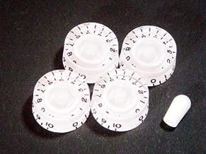 MIJ Speed Knobs and Toggle Knob Set Embossed (Metric) white fa-espd5mm-wht