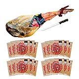 Jamón Serrano Gran Reserva, peso aprox 6Kg convertido en 20 sobres de jamón cortados tipo cuchillo. Salamanca. Pinante