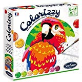 Sentosphere 3904501 Colorizzy - Kit de Pintura por números para niños, Loro, Kit de Manualidades, Kit Creativo